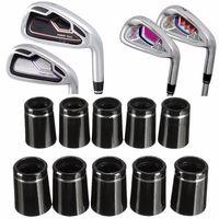 adaptador de ferulas de punta conica de golf de 10 piezas con un solo anillo de plata para eje de hierro 0335