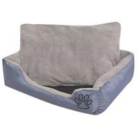 vidaxl cama para perro con cojin acolchado talla l gris
