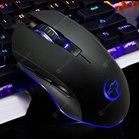 ywyt g812 mini wired gaming mouse optical sensor buttons ergonomic-black