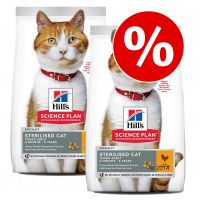 hills science plan pienso para gatos - pack ahorro - adult hairball  indoor con pollo - 2 x 10 kg
