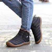 botas de nieve antideslizantes resistentes al agua para exteriores calzado sin cordones de invierno