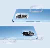 bakeey 2pcs para xiaomi mi 11 camara film hd clear ultra-thin anti-scratch soft vidrio templado telefono lente protector