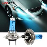 leepee h7 12v 55w super bright white car halogen bulb car headlights lamp car light source parking fog lights high power