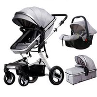 baby stroller 3 in 1 with car seat high land-scape fashion baby carriage pram can sit reclining folding light kid travel troller