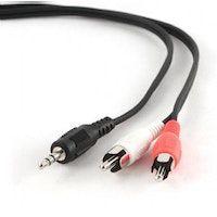 gembird 20m 35mm2xrca mm cable de audio 35mm negro rojo blanco