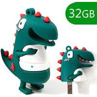pen drive usb x32 gb silicona dinosaurio