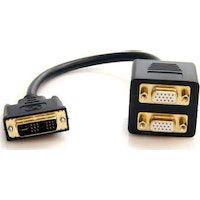 startechcom cable duplicador divisor de video dvi-i a 2 puertos salida vga compacto - bifurcador ad