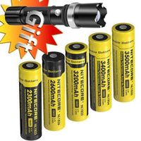 wholesale nitecore 18650 37v li-ion protected rechargeable battery nl1823 nl1826 nl1832 nl1834 nl1835 button top for flashlight