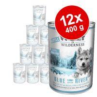 pack ahorro little wolf of wilderness 12 x 400 g - wild hills junior con pato y ternera