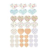 colorful heart stickers scrapbooking paper self adhesive diy crafts card decor stationery teacher praise 5pcs