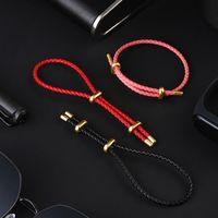original xiaomi mijia luckyme wild genuino cuerda de cuero cuerda pull pull 25cm 44cm hombres mujeres pulsera banda