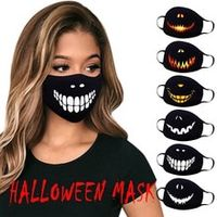 1pc adults washable fashion skull funny expression prints mask face cover halloween scary face mask protective mascarillas
