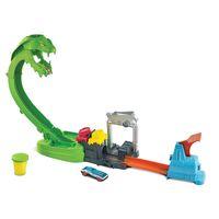 hot wheels city - toxic snake strike playset