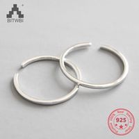 factory price 100 925 sterling silver fashion minimalism open ring couples fine jewelry for female