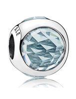 charm pandora plata y circonita gota radiante azul agua 792095nab