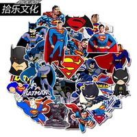 45 pcs cartoon dc stickers batman and superman stickers decal for snowboard luggage car fridge laptop stickers