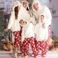 family matching christmas 2020 pajamas set plush winter warm men women kid parent-child clothes sleepwear nightwear pajymas new