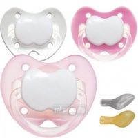 pack 3 chupetes personalizados trendy star girl 0-6 meses