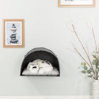 trixie casa cueva para gatos de pared lennie fieltro 45x45x30 cm
