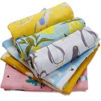 high quality organic cotton baby blanket swaddle wrap supersoft baby bedsheet 6060cm multi-use hanky handbath towel baby stuff