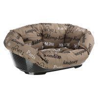 set cesta de plastico ferplast siesta deluxe negra con funda cities - set talla 10 - 935 x 68 x 285 cm l x an x al