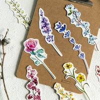 30pcsbox kawaii bookmarks novelty paper book markers cute flower bookmarks for girls gifts school office supplies stationery