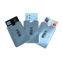 10pcs aluminum foil portable anti-scan credit rfid card protective anti-magnetic holder bag id band card protector