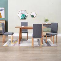 vidaxl sillas de comedor 4 unidades tela gris clara