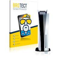 brotect protector pantalla anti-reflejos compatible con sony playstation 5 ps5 frontal pelicula mate anti-huellas
