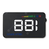 a500 hud odb2 system car universal 35 inches head up display dash screen overspeed alarm water temperature alarm -  black