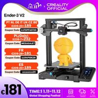 creality 3d ender-3 v2 mainboard with silent tmc2208 stepper drivers 43 inch touch lcd carborundum glass bed 3d printer