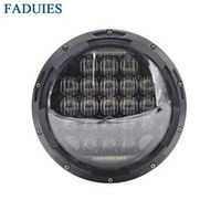 faduies 7 inch round black 105w 5d motorcycle led headlight for motorcycle 7 led headlamp
