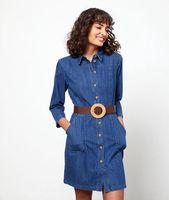vestido camisero vaquero - alexa - 42 - azul - mujer - etam