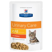 hills cd prescription diet urinary care sobres para gatos - 24 x 85 g pollo