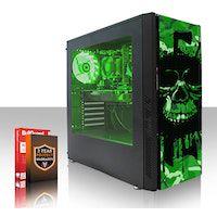 fierce exile rgb pc gamer - rapido 37ghz quad-core amd ryzen 3 2200g 240gb ssd 1tb disco duro 16