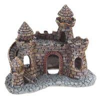 yani acuario decoracionacion del castillo del mago tanque de pescado casa de refugio pintado a mano castillo realista