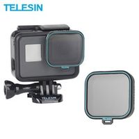 telesin polarizing filter polarizer filter cpl lens filter  lens cap for gopro hero 5 6 7 black photography accessories