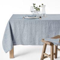 mantel de lino lavado chambray victorine