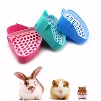 bandeja de la esquina de la litera del retrete para el animal gato gatito conejo hamster conejo de guinea inodoro