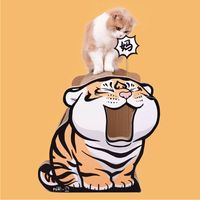necesito a mi mama forma de tigre gato tablero para rascar gato juguetes