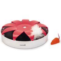beeztees juguete para gatos hunty 245x6 cm rosa y blanco