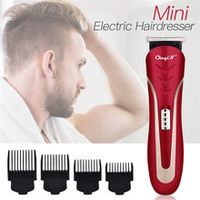 portable rechargeable hair trimmer barber beard clipper man haircut cutter shaving carbon steel blade with 36912mm limit comb