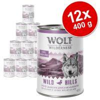 pack ahorro wolf of wilderness 12 x 400 g - scandinavia con salmon reno y pollo