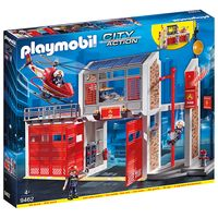 playmobil city action fire station with fire alarm 9462