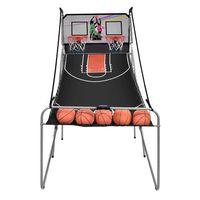 costway maquina de baloncesto plegable juguete contador electronico con soporte 202 x 107 x 205cm