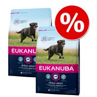 pack ahorro eukanuba 2 x 1215 kg o 3 x 3 kg - premium performance adult 3020 working  endurance 2 x 15 kg