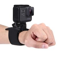 puluz brazo de muneca de mano correas de pierna montaje de rotacion de 360 grados para gopro sjcam xiaomi yi accion ca