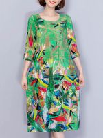 mujer elegante lamina 34 manga suelta vestido