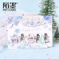 46pcsbox cute christmas stickers pattern paper phone album bullet journal stickers decorative scrapbooking stickers stationery