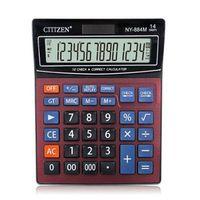 gtttzen ny-884m solar calculadora en rojo para oficina y hogar